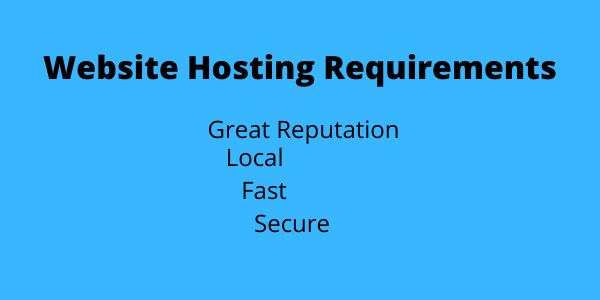 Website Hosting Requirements